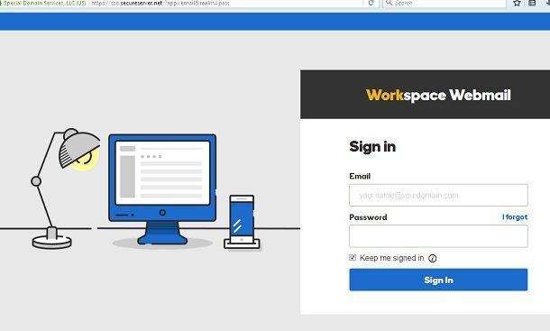 godaddy workspace email login