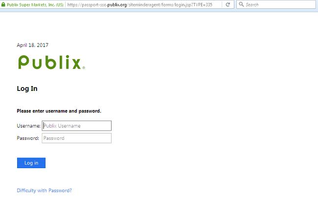 Publix login