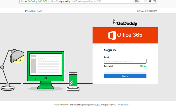 Godaddy Email Workspace-Login for Office 365