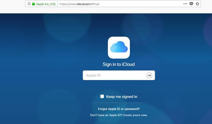 icloud email login
