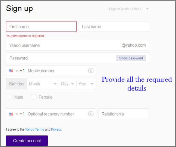 Create-Yahoo-mail-account
