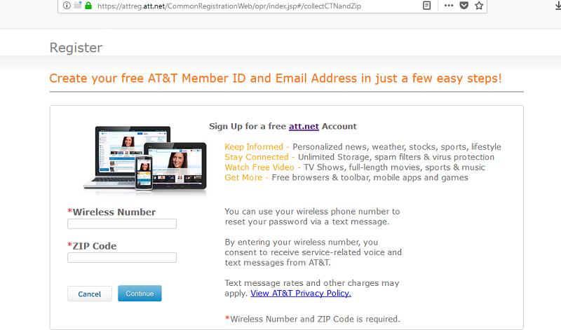 att.net sign up