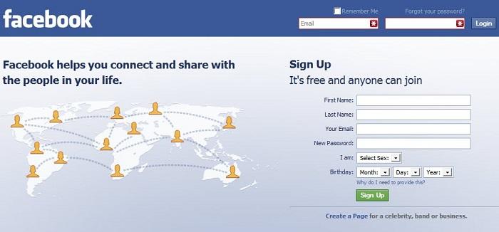 facebook com login