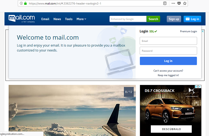 mail com login