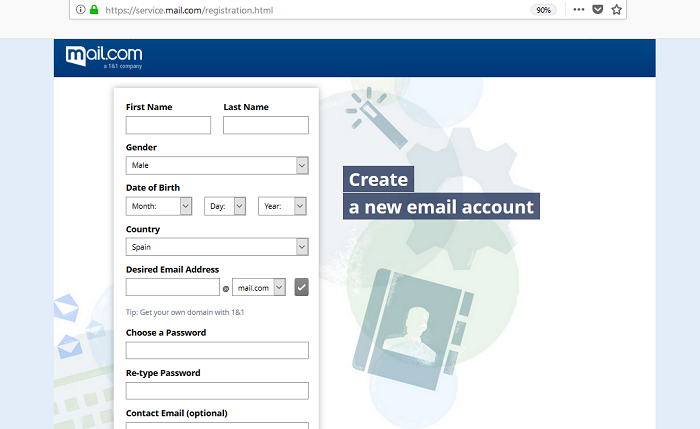 Create a Free Email Account with Mail.com Sign Up